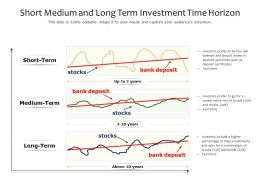 Short Medium And Long Term Investment Time Horizon