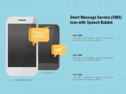Short Message Service SMS Icon With Speech Bubble