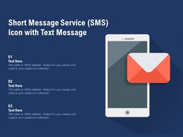 Short Message Service SMS Icon With Text Message