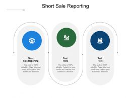 Short Sale Reporting Ppt Powerpoint Presentation Infographics Files Cpb