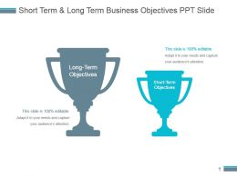 Short Term And Long Term Business Objectives Ppt Slide