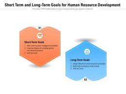 Short Term And Long Term Goals For Human Resource Development