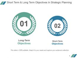 Short Term And Long Term Objectives In Strategic Planning Powerpoint Slide Download