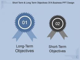 Short Term And Long Term Objectives Of A Business Ppt Design