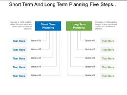 Short Term And Long Term Planning Five Steps Options