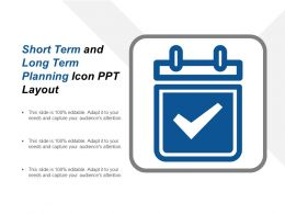 Short Term And Long Term Planning Icon Ppt Layout