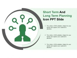 Short Term And Long Term Planning Icon Ppt Slide