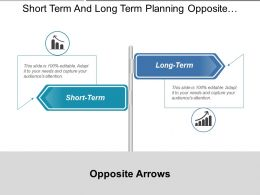 Short Term And Long Term Planning Opposite Arrows