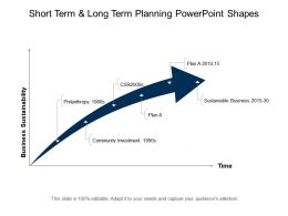 Short Term And Long Term Planning Powerpoint Shapes