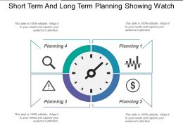 Short Term And Long Term Planning Showing Watch