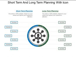 Short Term And Long Term Planning With Icon