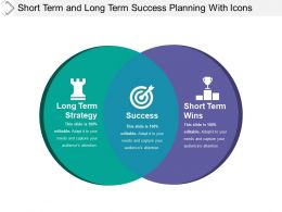 Short Term And Long Term Success Planning With Icons