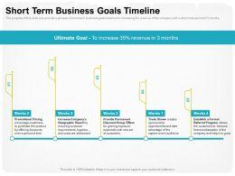 Short Term Business Goals Timeline Captive Ppt Powerpoint Presentation Diagram Ppt