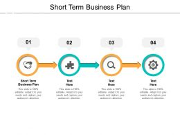 Short Term Business Plan Ppt Powerpoint Presentation Ideas Design Inspiration Cpb