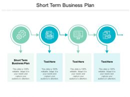 Short Term Business Plan Ppt Powerpoint Presentation Layouts Show Cpb