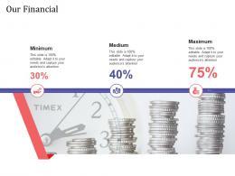 Short Term Debt Funding Pitch Deck Our Financial Medium Ppt Powerpoint Show