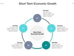 Short Term Economic Growth Ppt Powerpoint Presentation Show Shapes Cpb