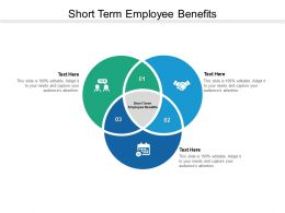 Short Term Employee Benefits Ppt Powerpoint Presentation Layouts Graphics Pictures Cpb