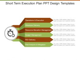 Short Term Execution Plan Ppt Design Templates