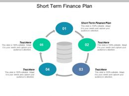 Short Term Finance Plan Ppt Powerpoint Presentation Ideas Background Cpb