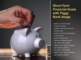 Short Term Financial Goals With Piggy Bank Image