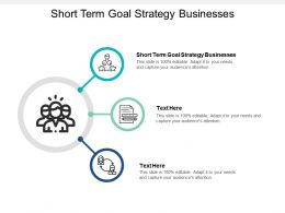 Short Term Goal Strategy Businesses Ppt Powerpoint Presentation Guide Cpb