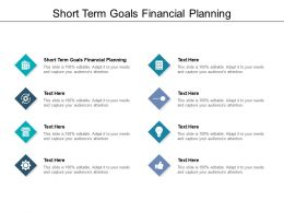 Short Term Goals Financial Planning Ppt Powerpoint Presentation Icon Show Cpb
