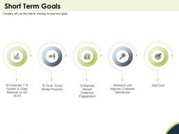 Short Term Goals Generate Powerpoint Presentation Design Inspiration