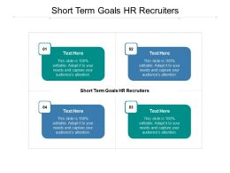 Short Term Goals HR Recruiters Ppt Powerpoint Presentation File Mockup Cpb