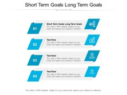 Short Term Goals Long Term Goals Ppt Powerpoint Presentation Summary Background Images Cpb