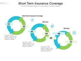 Short Term Insurance Coverage Ppt Powerpoint Presentation Layouts Microsoft Cpb