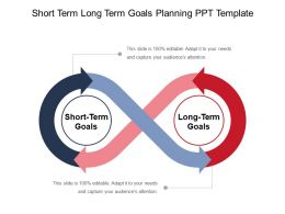 Short Term Long Term Goals Planning Ppt Template
