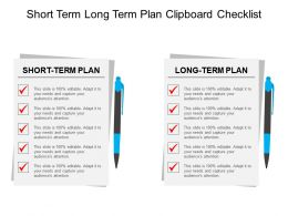 Short Term Long Term Plan.  Business Action Plan Template