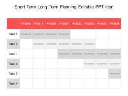 Short Term Long Term Planning Editable Ppt Icon