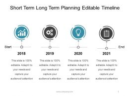 Short Term Long Term Planning Editable Timeline Powerpoint Slides