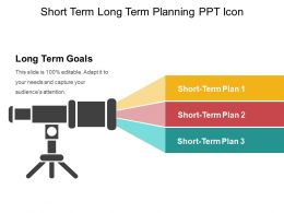 Short Term Long Term Planning Ppt Icon
