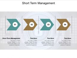 Short Term Management Ppt Powerpoint Presentation Show Slide Cpb