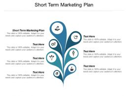 Short Term Marketing Plan Ppt Powerpoint Presentation Show Model Cpb