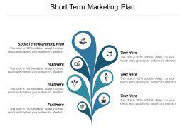 Short Term Marketing Plan Ppt Powerpoint Presentation Show Model Cpb