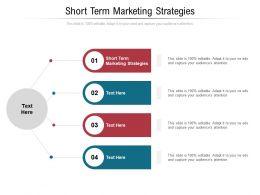 Short Term Marketing Strategies Ppt Powerpoint Presentation Summary Example Cpb