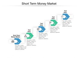 Short Term Money Market Ppt Powerpoint Presentation Portfolio Format Ideas Cpb