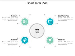 Short Term Plan Ppt Powerpoint Presentation Outline Graphics Pictures Cpb