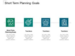 Short Term Planning Goals Ppt Powerpoint Presentation Ideas Design Templates Cpb