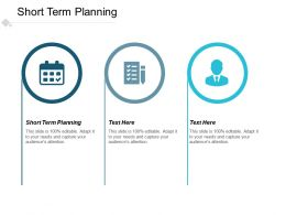 Short Term Planning Ppt Powerpoint Presentation Gallery Visuals Cpb
