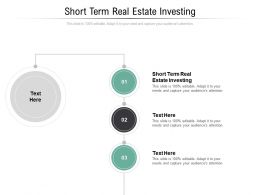 Short Term Real Estate Investing Ppt Powerpoint Presentation Professional Templates Cpb