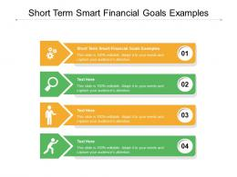 Short Term Smart Financial Goals Examples Ppt Powerpoint Presentation Infographic Template Cpb
