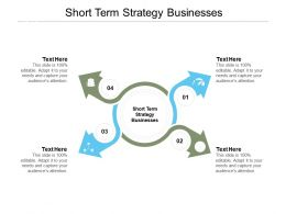 Short Term Strategy Businesses Ppt Powerpoint Presentation Model Slides Cpb