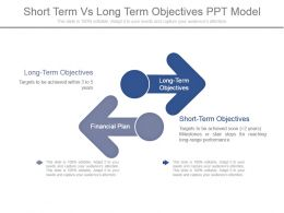 Short Term Vs Long Term Objectives Ppt Model