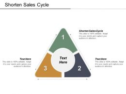Shorten Sales Cycle Ppt Powerpoint Presentation Infographic Template Aids Cpb