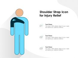 Shoulder Strap Icon For Injury Relief